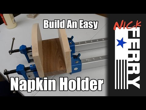 Ⓕ Make A Maple And Walnut Napkin Holder (ep25)