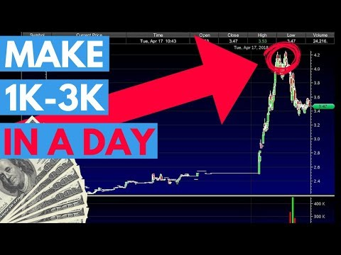 How To Make $1,000 To $3,000 Per Day Trading Penny Stocks