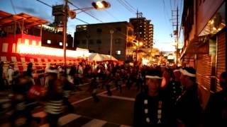 岸和田だんじり祭り 2014(平成26年度) 小門貝源 本宮 18:30~ラスト や...