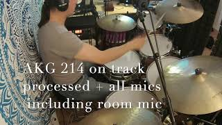AKG C214 VS Neumann KM184 mt Overhead Drums - A simple comparison