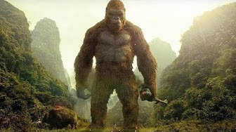 Kong Saves Giant Buffalo Scene - Kong: Skull Island (2017) Movie Clip HD