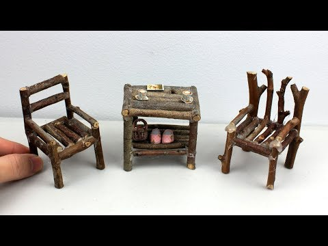 Easy DIY Miniature Wooden Furniture from Tree Branches #8 | Chair & Table Toys for Kids