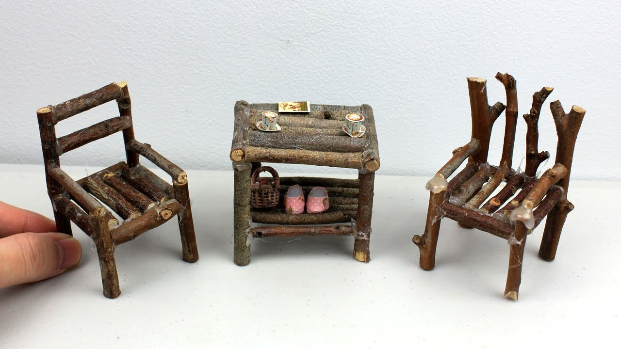 Easy Diy Miniature Wooden Furniture