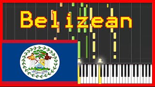 Video Belize National Anthem {easy piano tutorial}-(Synthesia)-HD download MP3, 3GP, MP4, WEBM, AVI, FLV Juni 2018