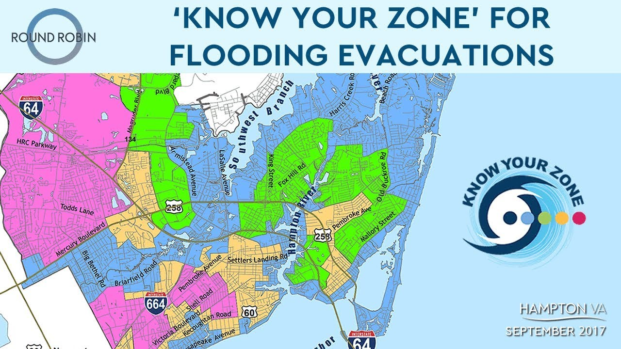 Judgemental Map Of Virginia Beach.Know Your Zone For Flooding Evacuations Youtube