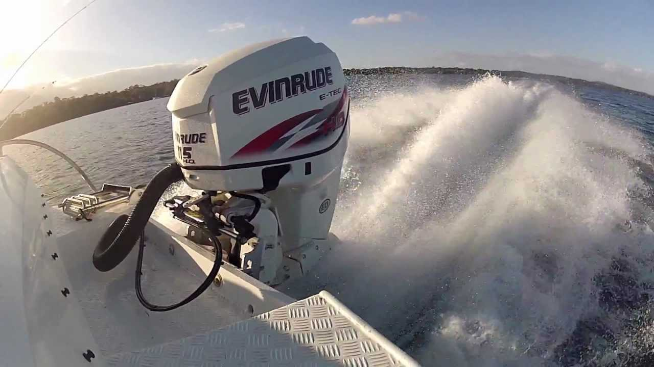 Evinrude Etec 115hp HO  WOT Smooth Water  YouTube