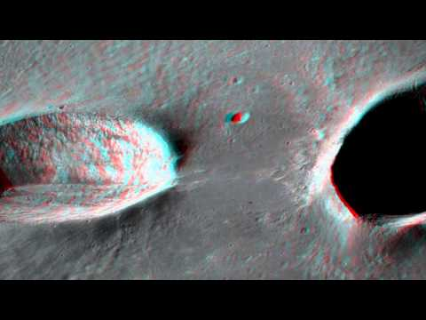 Messier and Messier A crater anaglyph