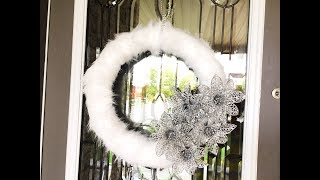 SIMPLE & EASY DIY Christmas Wreath  - Big Lots inspired