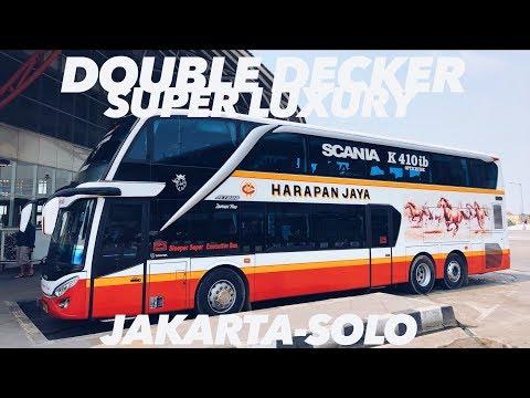 Naik Bis Double Decker Harapan Jaya SCANIA K410 ke Solo.. MEWAH & Bikin Tidur Nyenyak!