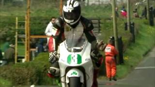 sport bike insanes peed and brutual accident (isle of man tt)
