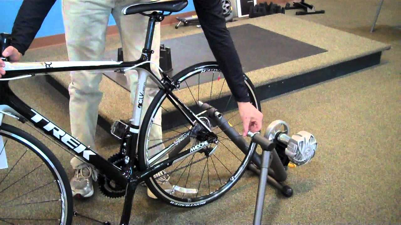How To Install Your Bicycle In A Cycleops Indoor Trainer Youtube