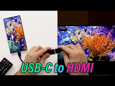 Connect your Laptop or Smartphone to a 4K TV or Monitor - USB-C to HDMI