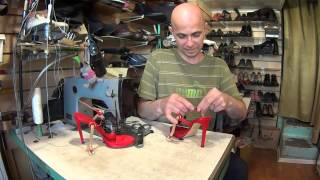 как увеличить длинну ремешков на босоножках. Ремонт обуви