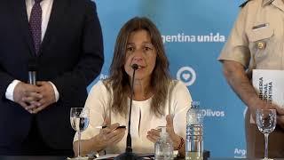 EN VIVO   Reunión con las fuerzas de seguridad federales - Conferencia de Sabina Frederic