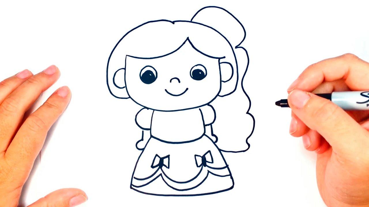 C mo dibujar una princesa paso a paso dibujo f cil de for Comedor facil de dibujar