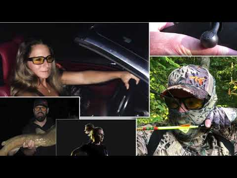 NEW! KastKing NIGHT VISION GLASSES – Low Light Shooting Glasses, Fishing Glasses Driving Glasses
