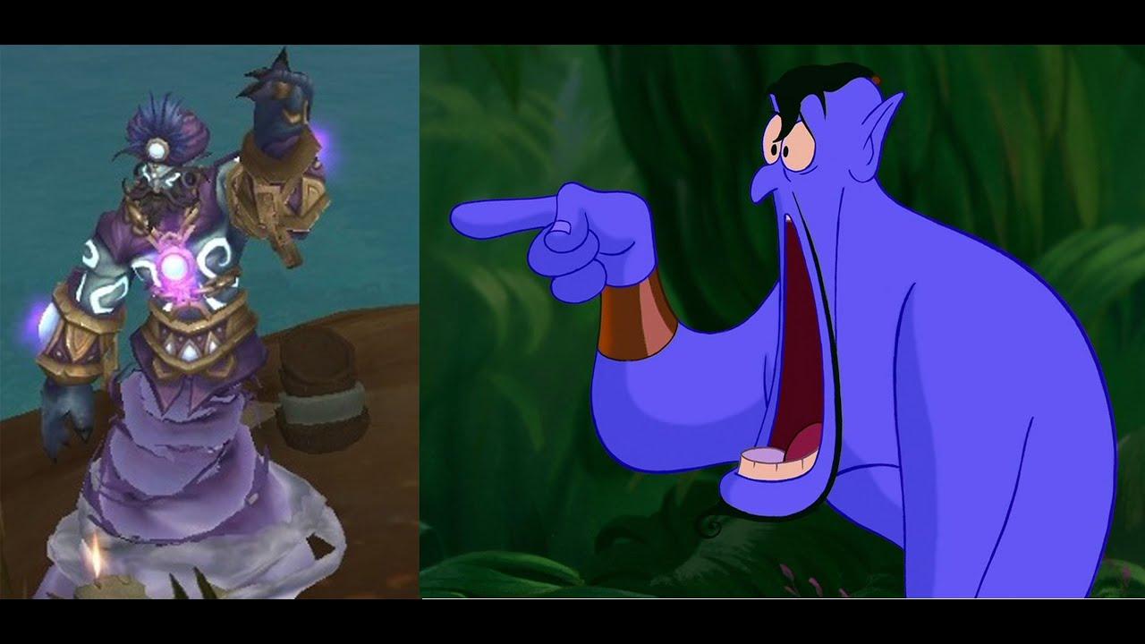 Robin Williams Genie Tribute in World of Warcraft YouTube