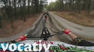 360˚ Of Crazy Mountain Biking – On A Bobsled Course thumbnail