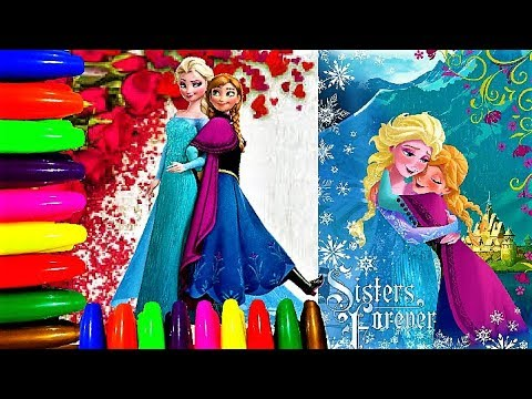 Coloring Frozen Elsa & Anna Coloring Book Pages I Vibrant Colors I Lucky Colors