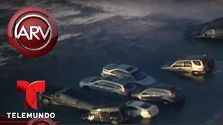 Docenas de autos quedan sumergidos un río de Wisconsin   Al Rojo Vivo   Telemundo