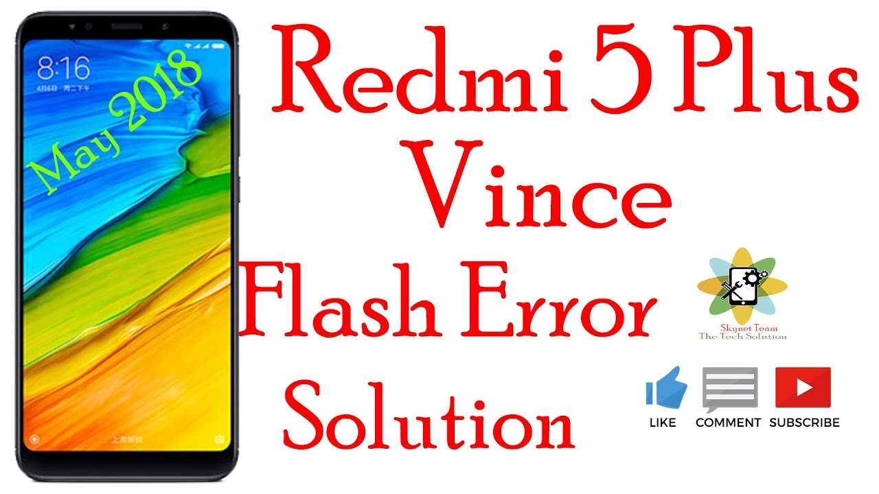 How To Flash Redmi 5 Plus Fastboot Mode Vince
