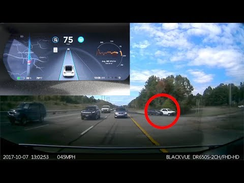 Tesla Dash Cam Records Crazy Accident!