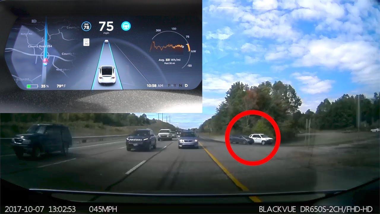 Tesla Dash Cam Records Crazy Accident!