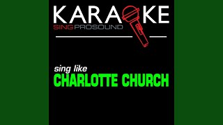 Crazy Chick (In the Style of Charlotte Church) (Karaoke with Background Vocal)