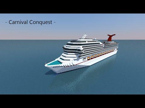 Carnival Conquest Cruise Ship In Minecraft! 1:1 Scale Replica