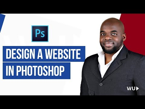 How to Design a website in Photoshop | Web design Tutorial