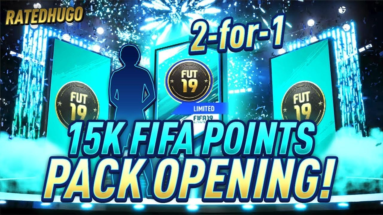 2 FOR 1 125K PACKS!!!!! 15K FIFA POINT PACK OPENING!!!!