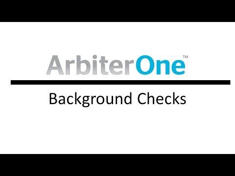ArbiterOne Background Checks