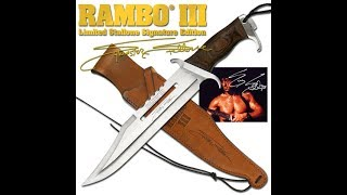 Rambo First Blood Part III Movie Replica Knife