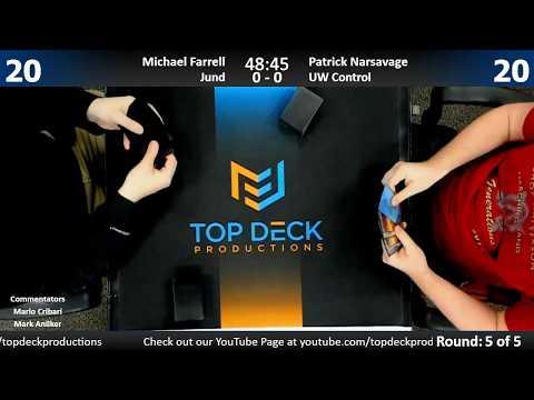 Modern w/ Comm 3/16/18: Michael Farrell (Jund) vs. Patrick Narsavage (U/W Control)