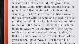 James 1:1-27 ♩♫ KJV Scripture Song, Full Chapter