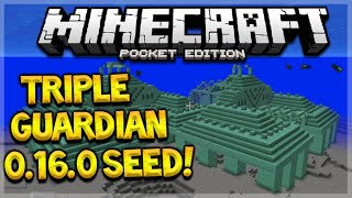 TRIPLE GUARDIAN TEMPLE SEED! Minecraft Pocket Edition 0.16.0 Triple Guardian Temple (Pocket Edition)(SHARE YOUR AWESOME MCPE SEEDS BELOW! ▻ Join Machinima: http://bit.ly/2aCih2q ▻ Powered By Netherbox: http://netherbox.com/?promo=ECKO ..., 2016-09-17T14:00:05.000Z)
