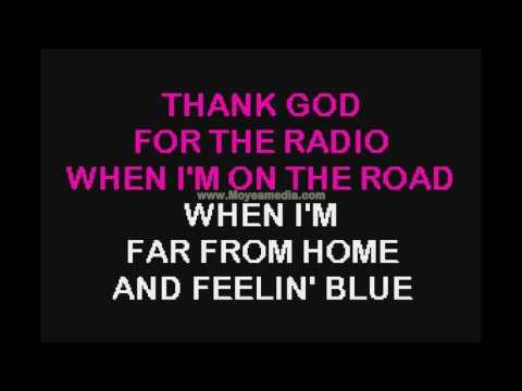 Thank God For The Radio   Kendalls HD Karaoke PK00481