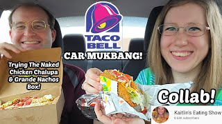 TACO BELL CAR MUKBANG (Collab With Kaitlin's Eating Show)! 먹방 | SongByrd's Eating Show