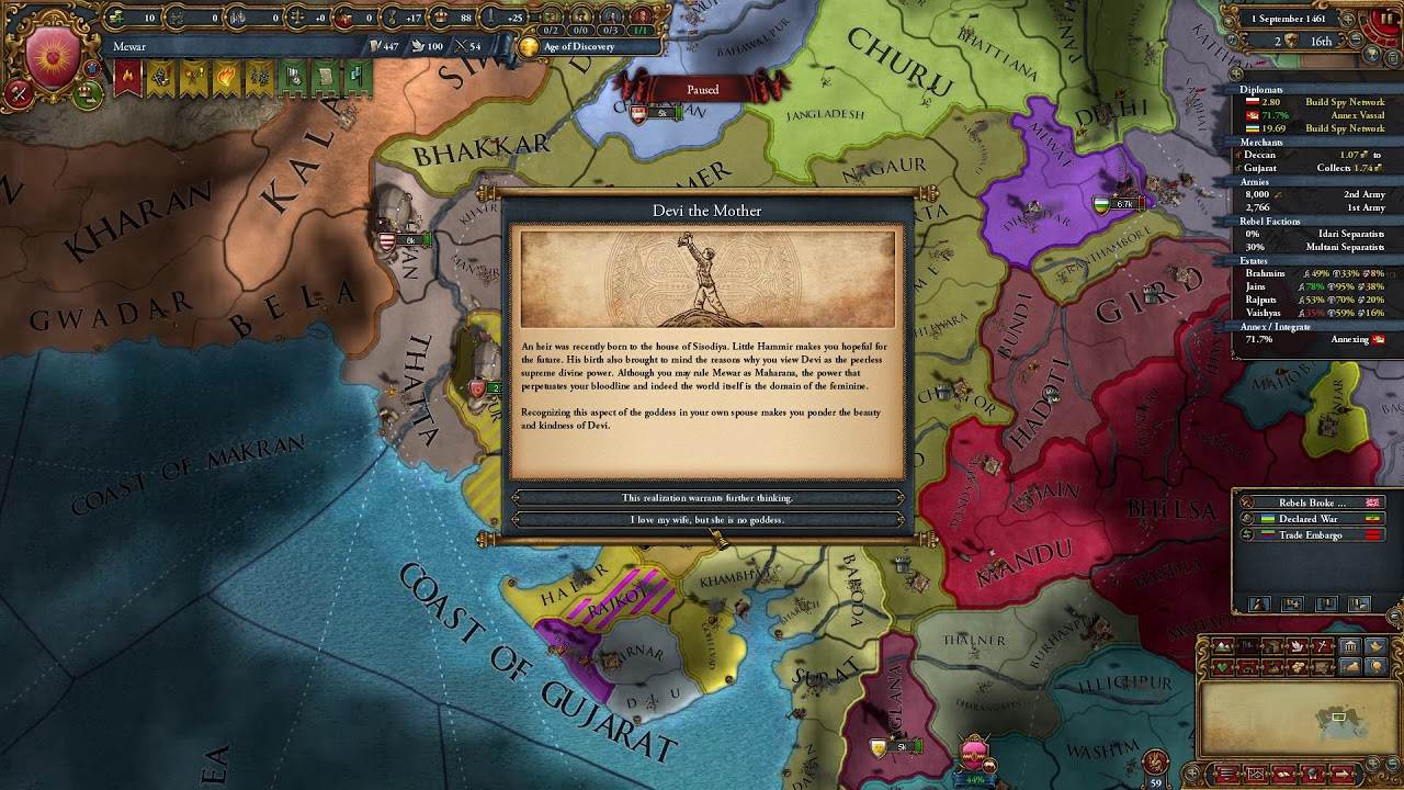 EU4 DHARMA: NEW EVENTS - Devi The Mother