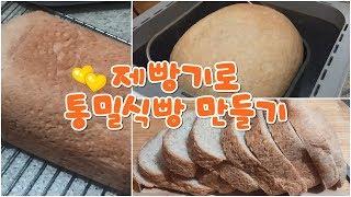 [몽골] 제빵기로 통밀식빵 만들기 / 30% 통밀비건식…