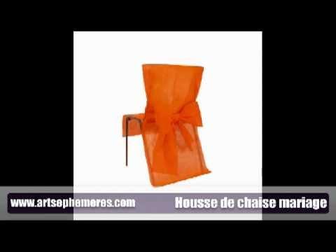 Housse de chaise mariage youtube - Housse de chaise noire ...