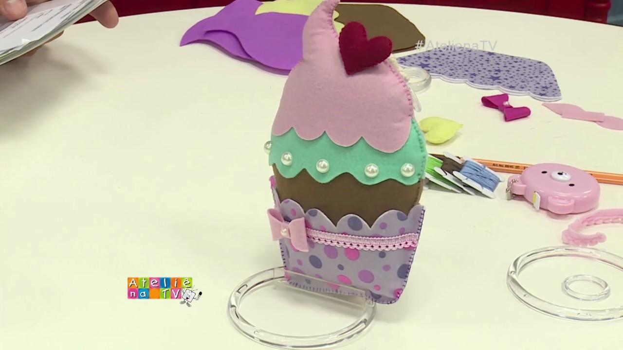 Artesanato Com Madeira ~ Ateli u00ea na TV Rede Vida 01 09 2017 Bruna Sophie Candy e Aracy Silveira YouTube