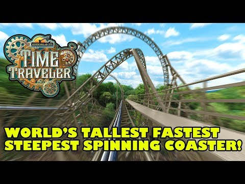 Time Traveler World's Tallest Fastest Spinning Roller Coaster Silver Dollar City 2018 Animated POV P