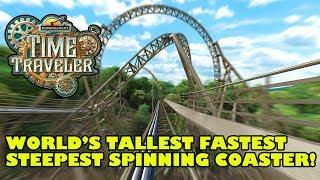 Time Traveler World's Tallest Fastest Spinning Roller Coaster Silver Dollar City 2018 Animated POV P