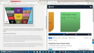 Using The Color Vowel Chart