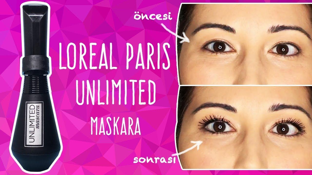 bebc6c98ee4 Loreal Paris Unlimited Maskara İncelemesi - YouTube