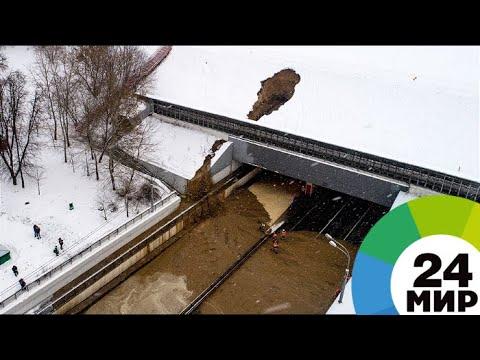 Затопление в Тушинском тоннеле 10.01.2018. Вид с квадрокоптера