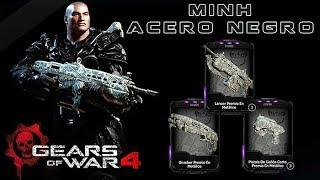"""Gears of War 4 l 1ra. Partida """" Escalada """" Acero Negro l Skins Metálico l 1080p Hd"""
