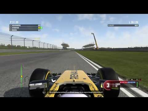 PS4  F1  2016 Race 3 Chinese GP Tyre Puncture Leading the Race !