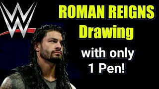 Speed drawing ROMAN REIGNS WWE Royal Rumble 2018   How to draw